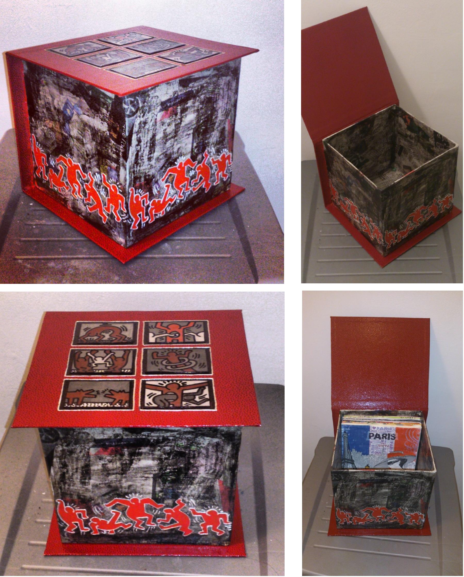 boite range serviette keith haring. Black Bedroom Furniture Sets. Home Design Ideas